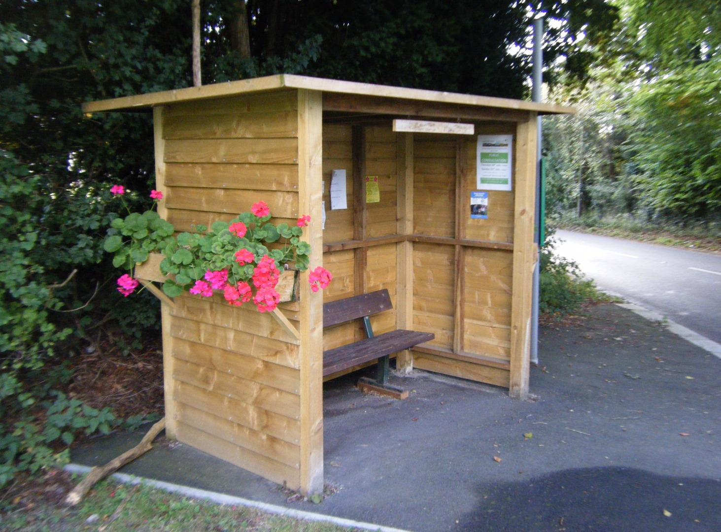 Lyonshall bus stop shelter