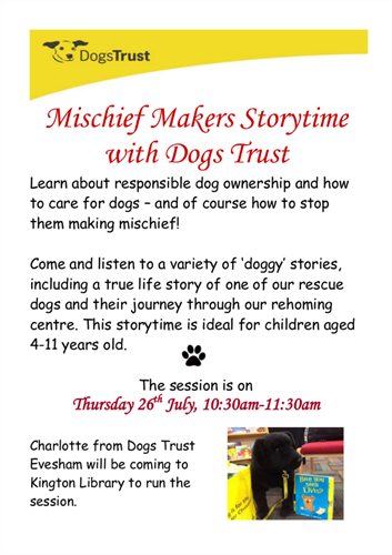 Mischief Makers Storytime with Dogs Trust