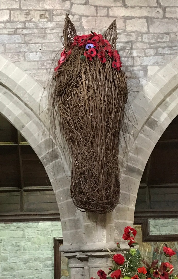 Willow horse's head