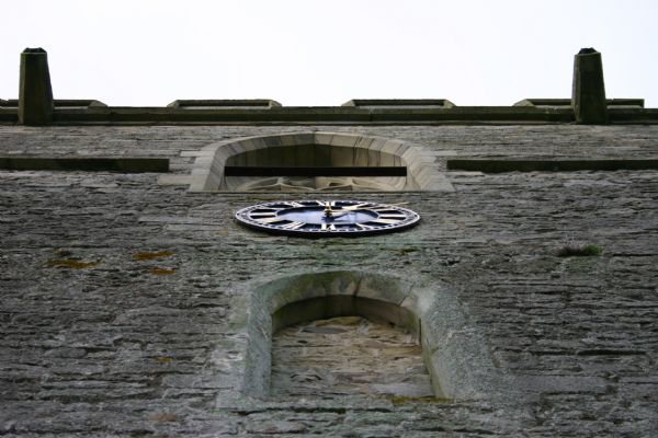 Lyonshall church's clock on the tower