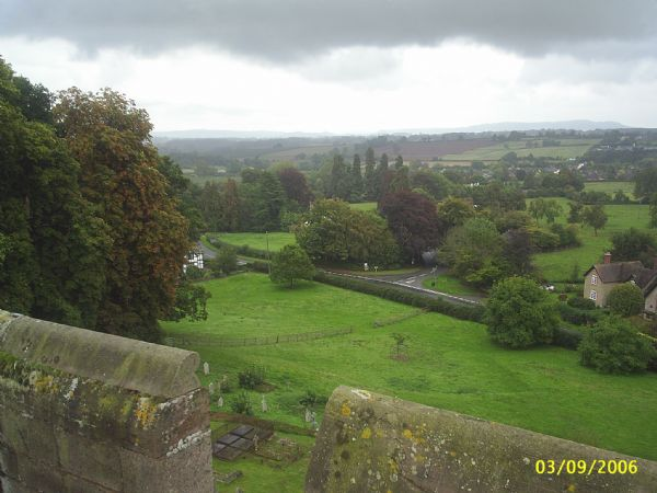 View from the top of Lyonshall church