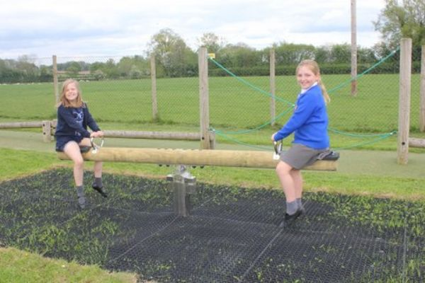 Children on the seesaw